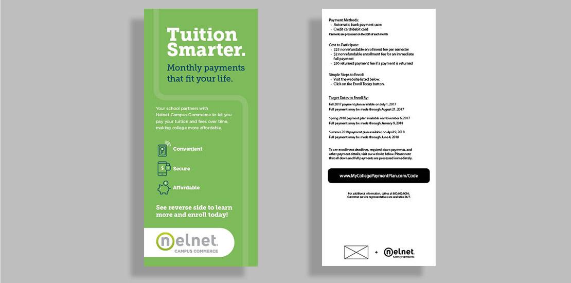 Example of Campus Commerce Bookmark